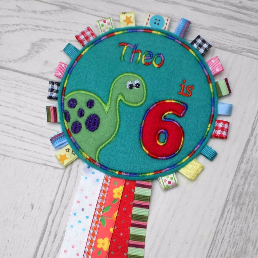 Dinosaur Birthday Rosette