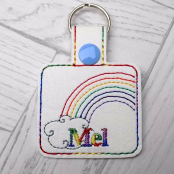 Rainbow Personalised Keyring