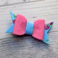 Floral Fancy Felt and Fabric Bow