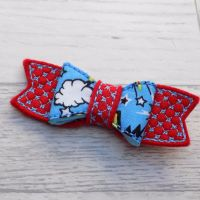 Superhero Pow Felt and Fabric Hair Bow
