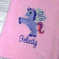 Prancing Unicorn Fleece Blanket