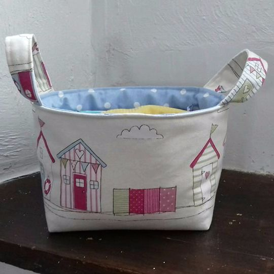 Medium Square Fabric Storage Basket