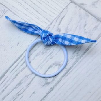 School Colours Gingham Knot Bow