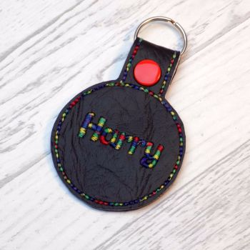 Circle Personalised Keyring Bag Tag