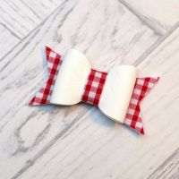 Gingham School Colours Felt Bow