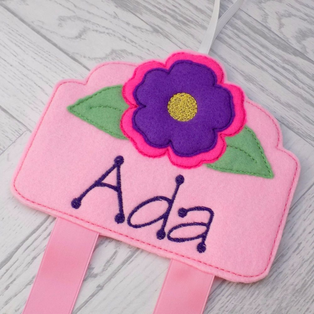 Flower Bloom Personalised Hair Clip Holder
