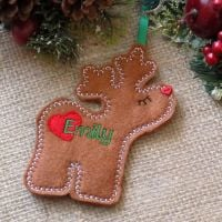 Reindeer Girl Personalised Christmas Ornament