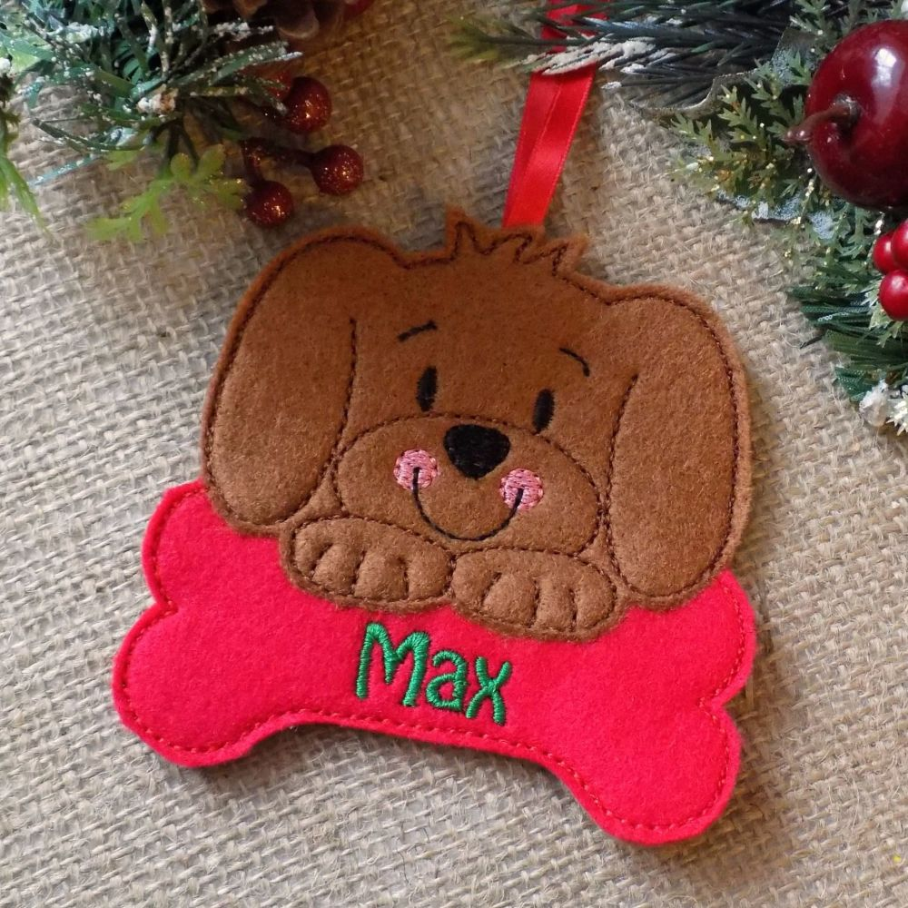 Personalised Dog Christmas Ornament