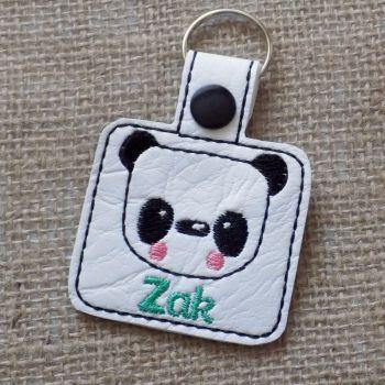 Panda Personalised Keyring