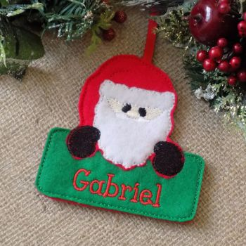 Personalised Santa Christmas Ornament