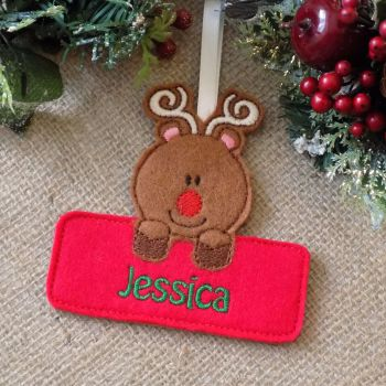 Personalised Reindeer Christmas Ornament
