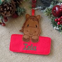 Personalised Horse Christmas Ornament