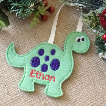 Personalised Dinosaur Christmas Ornament