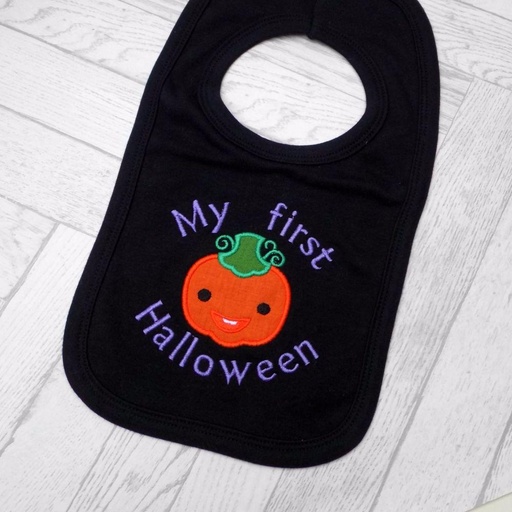 1st Halloween Bib