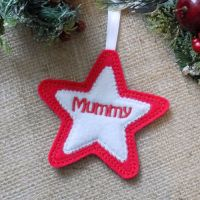 Personalised Star Cookie Christmas Ornament