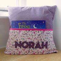 Personalised Story Time Cushion - Bespoke Fabric