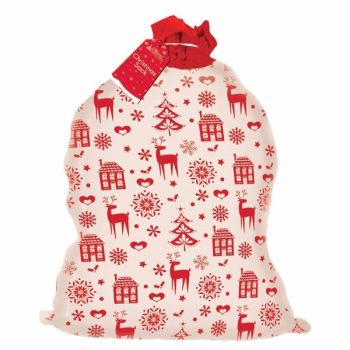 Personalised Nordic Reindeer Christmas Sack