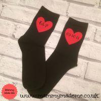 Personalised Heart Initial Socks