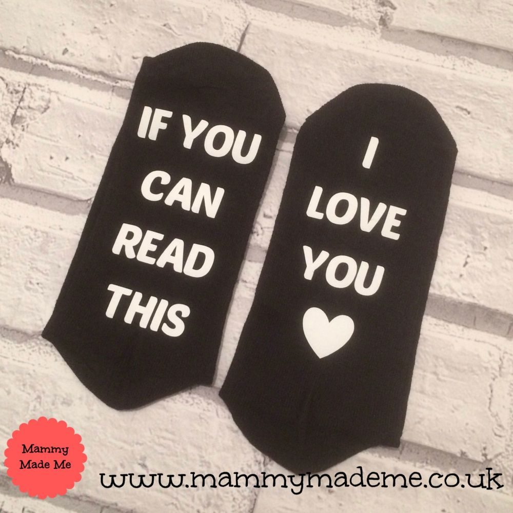 Personalised Hidden Message Socks