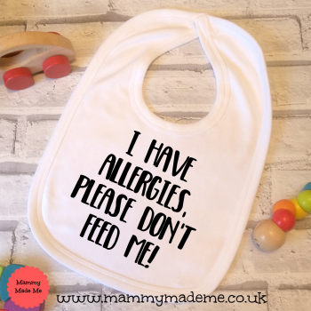 Printed Allergy Awareness Bib