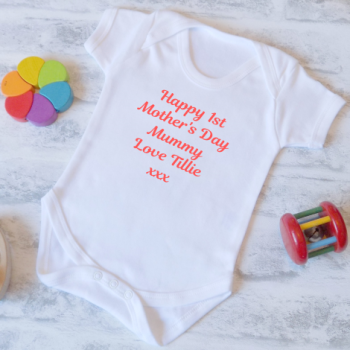Personalised My 1st Mother's Day Baby Vest