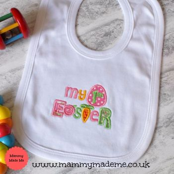 My First Easter Embroidered Bib