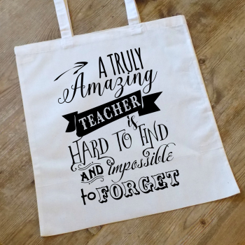 A Truly Amazing Teacher Personalised Tote Bag