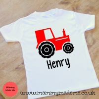 Personalised Tractor T-Shirt