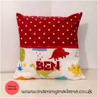 Personalised Story Time Cushion - Dinosaur Design
