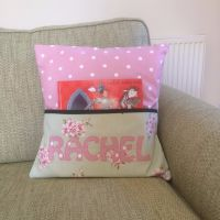 Personalised Story Time Cushion - Pink BlossomDesign