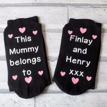 This Mummy / Nanna etc Belongs To Personalised Socks