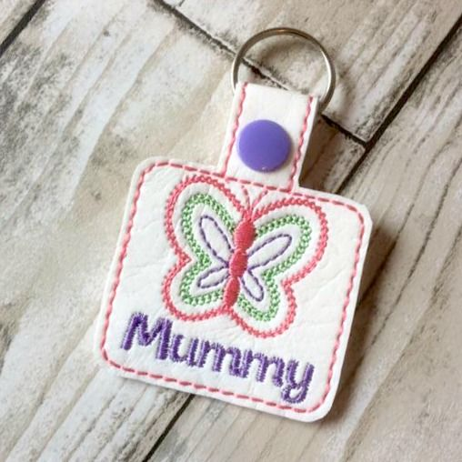 Butterfly Personalised Keyring