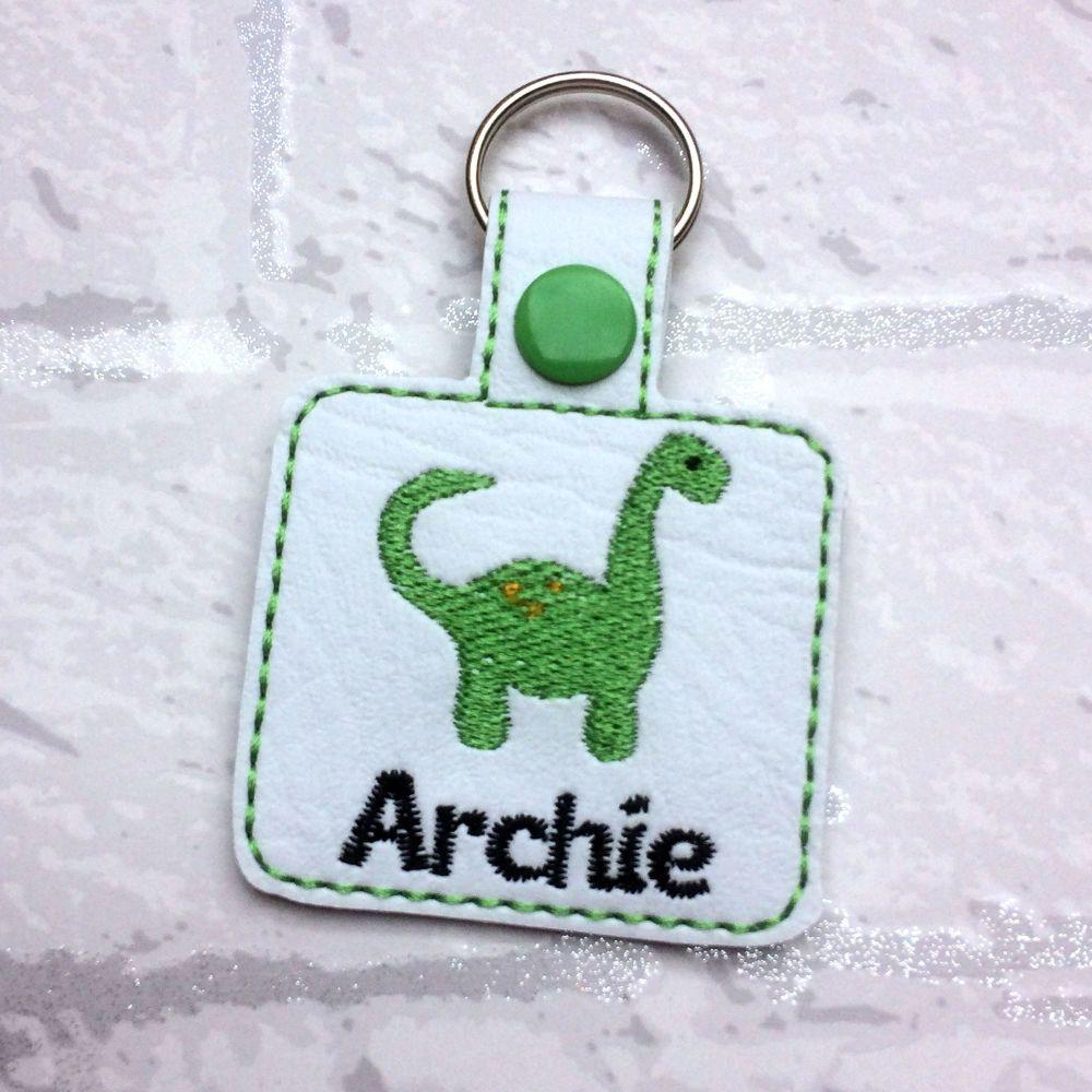 Dinosaur Personalised Keyring