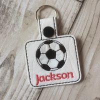 Football Personalised Square Keyring