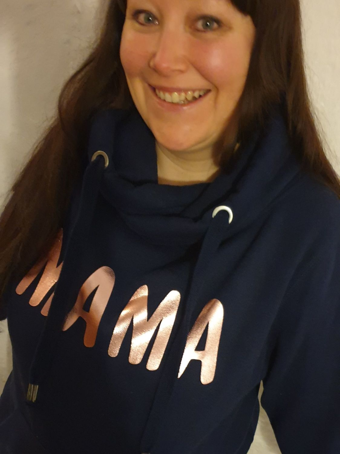 Mama Cross Neck Luxe Hoodie