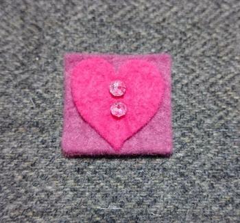 9. bright pink round