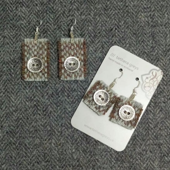 1. wool earrings