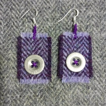 4. wool earrings
