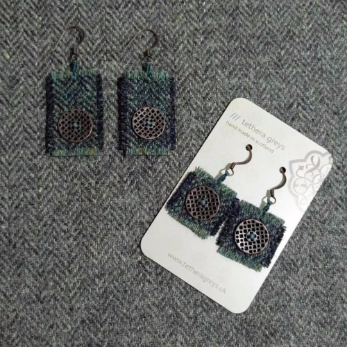 5. wool earrings