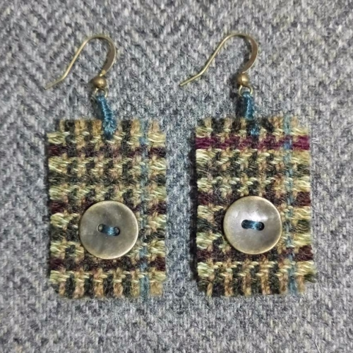 8. wool earrings