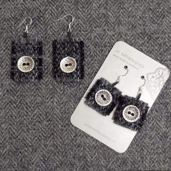 9. wool earrings
