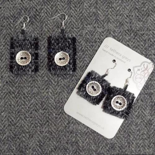 9. wool earrings