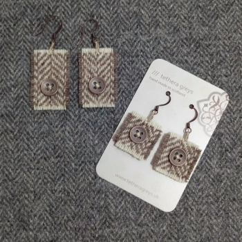 15. wool earrings