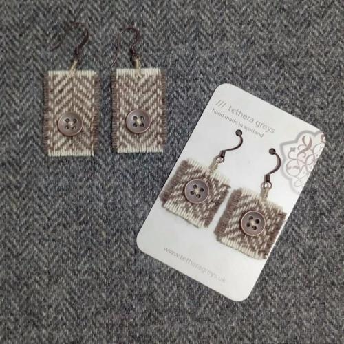 15. wool earrings
