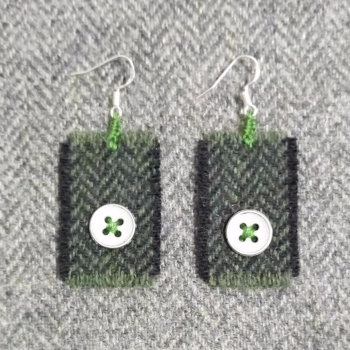 16. wool earrings