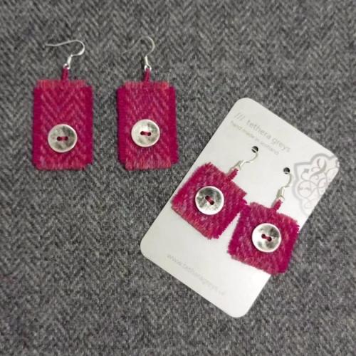 17. wool earrings