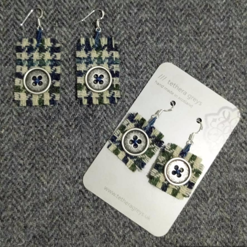 13. wool earrings