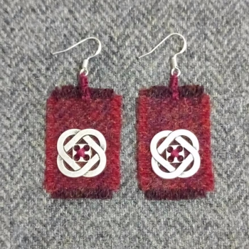 20. wool earrings
