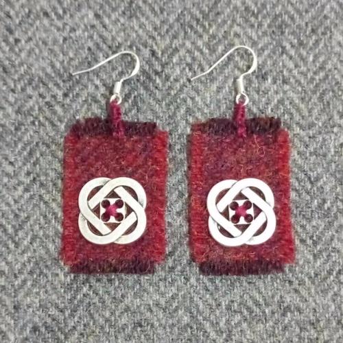 20. wool earrings