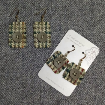 21. wool earrings